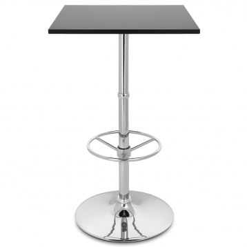 Dial Poseur Square Table Black