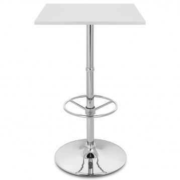 Dial Poseur Square Table White