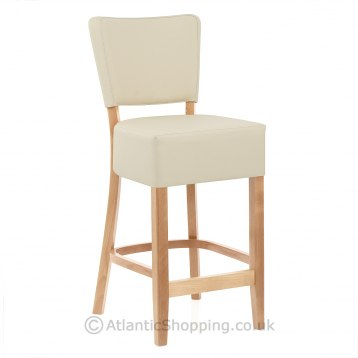 Bach Wooden Stool Cream & Beech