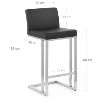 Impulse Brushed Stool White