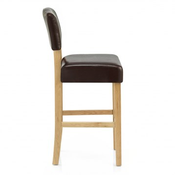 Newton Oak Chair Brown Leather