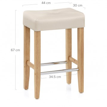 Rio Brushed Steel Bar Stool Black