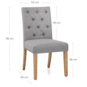 Barrington Oak Dining Chair Grey Fabric