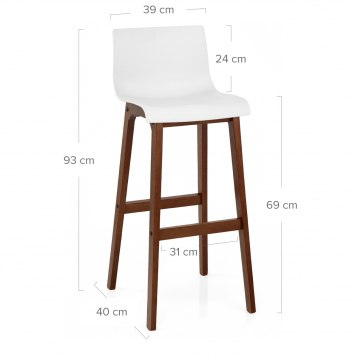 Drift Walnut & White Bar Stool