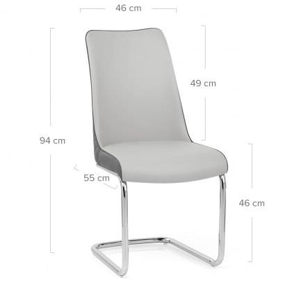 Alder Dining Chair Grey & Charcoal
