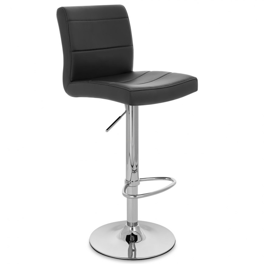 Chrome Breakfast Bar Stool Black Atlantic Shopping
