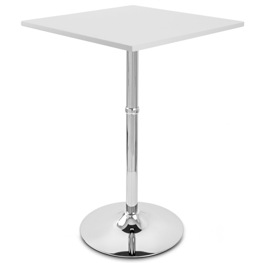 Table Carree Blanche: Sovereign Square Bar Table White
