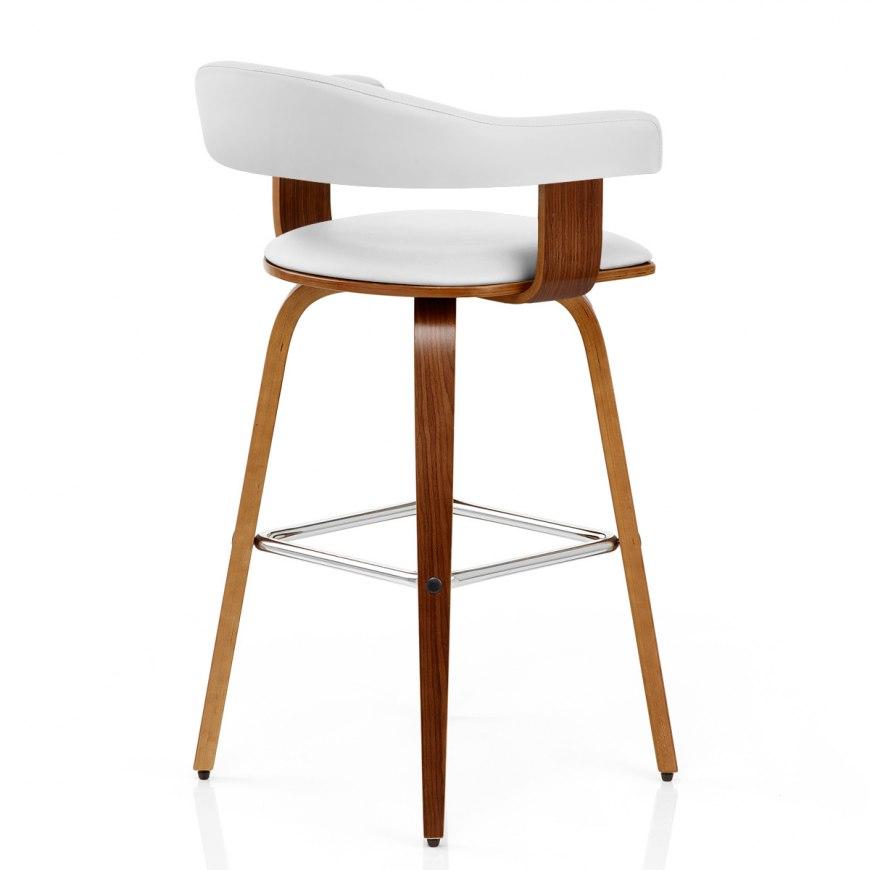 padded crescent bar stool grey atlantic shopping. Black Bedroom Furniture Sets. Home Design Ideas