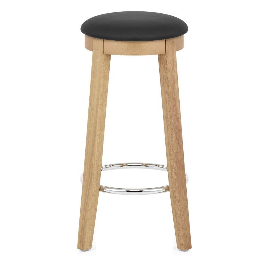 real leather crescent bar stool atlantic shopping. Black Bedroom Furniture Sets. Home Design Ideas