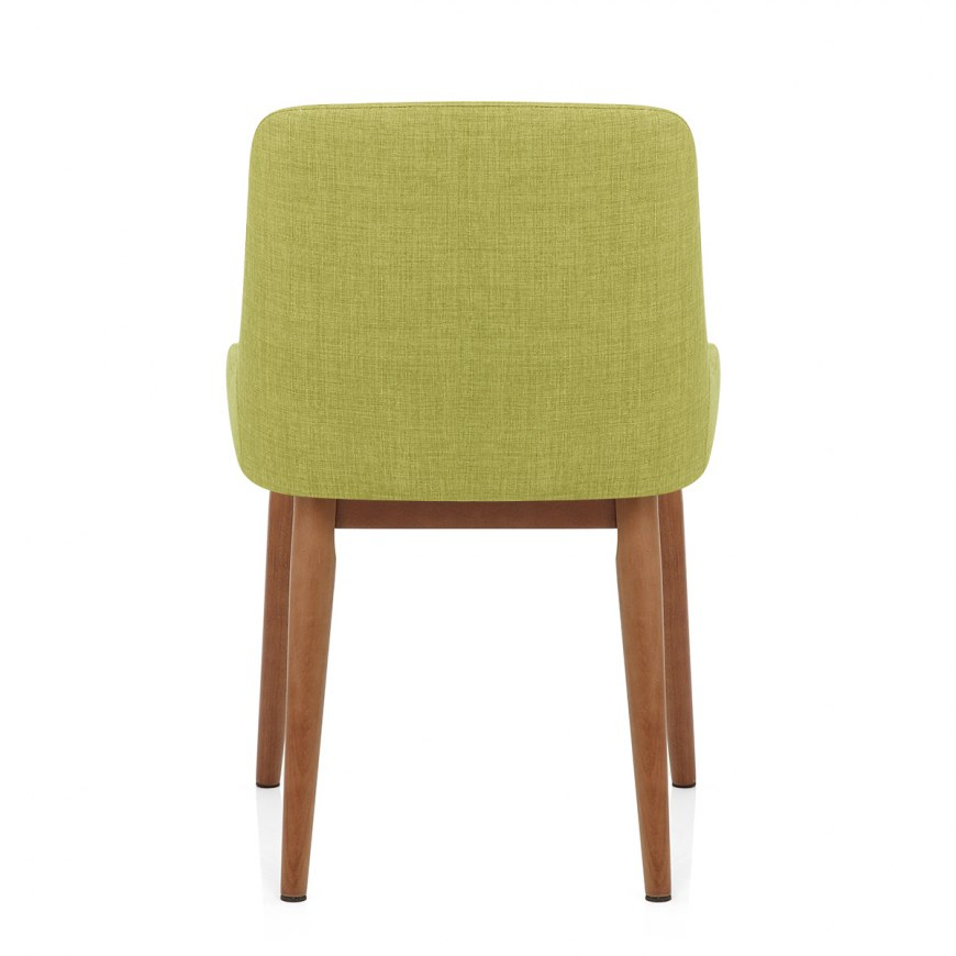 Ramsay oak dining chair brown leather atlantic shopping for Brown leather dining chairs