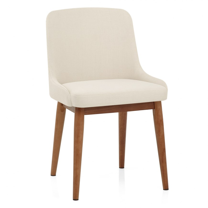 Ramsay Oak Dining Chair Cream Leather Atlantic Shopping