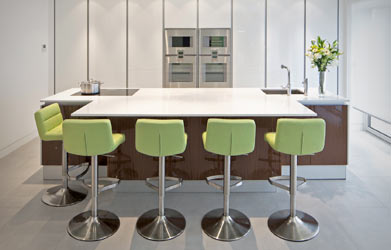 Brushed Steel Bar Stools