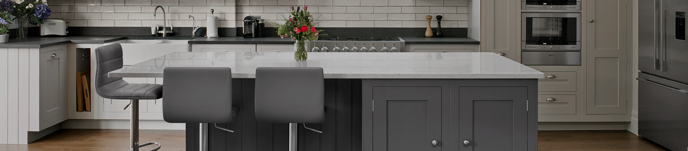 Brushed Steel Breakfast Bar Stools