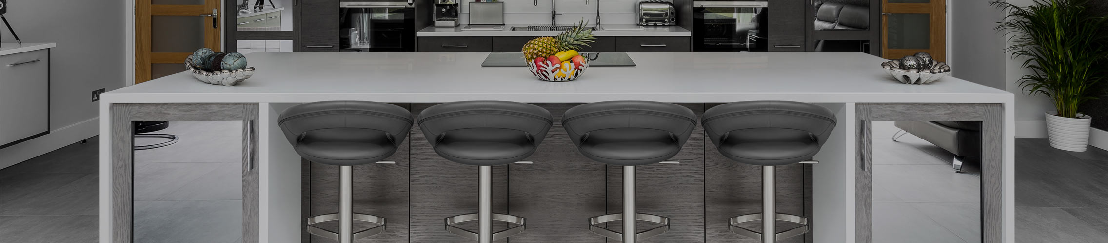 Real Leather Breakfast Bar Stools