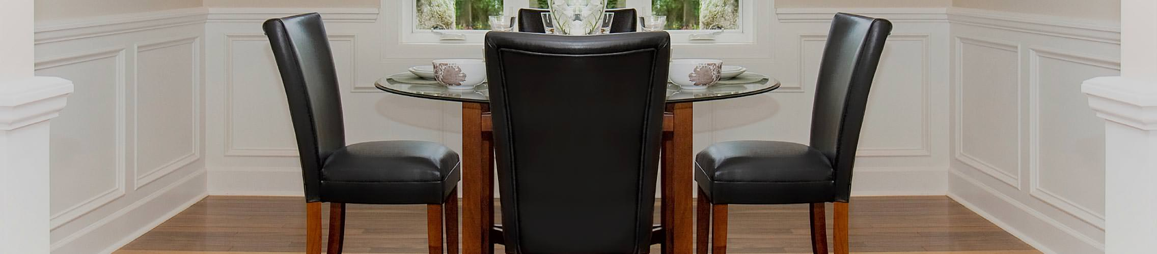 Real Leather Kitchen Dining Chairs