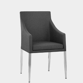 Hoxton Dining Chair Charcoal Fabric