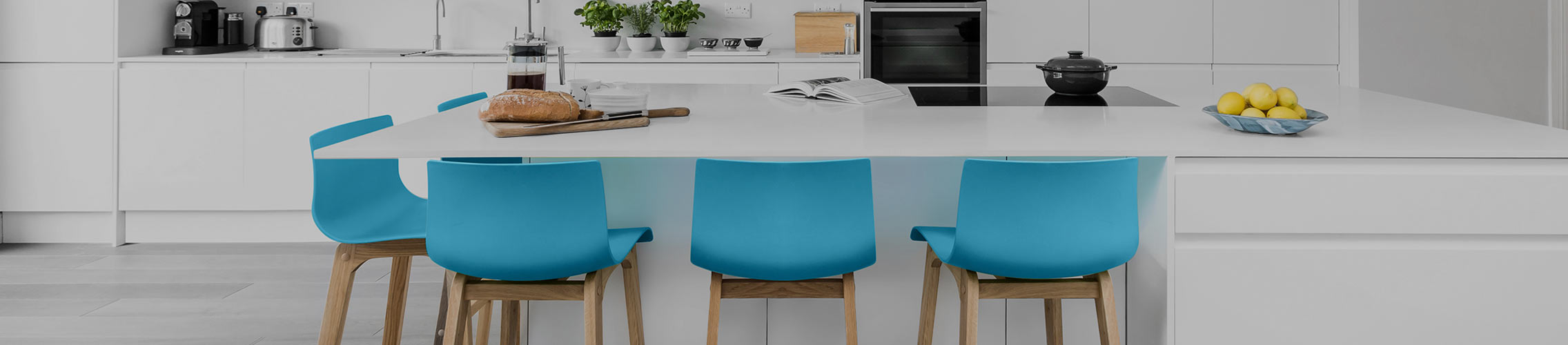 Blue Kitchen Stools