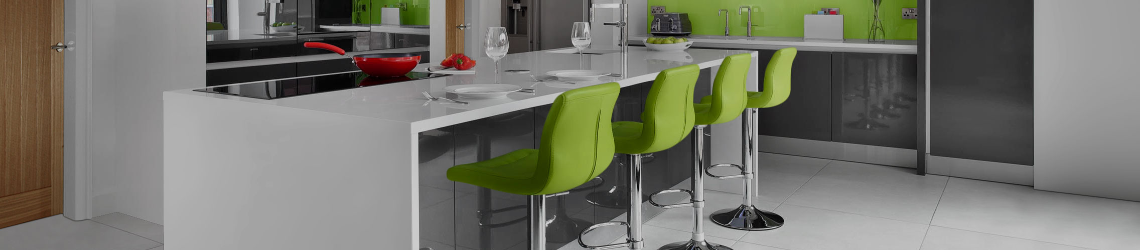 Green Kitchen Stools