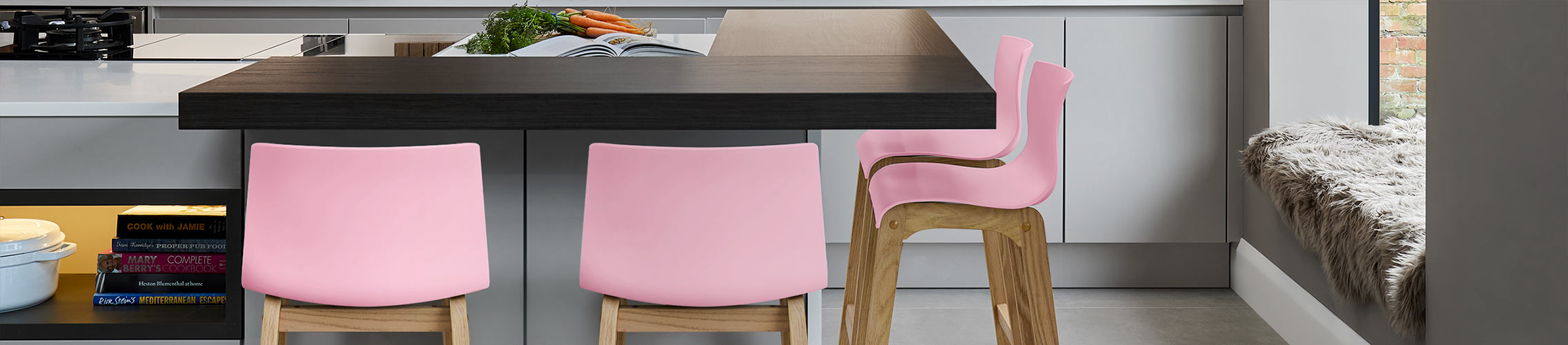 Pink Kitchen Stools   Atlantic Shopping