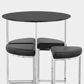 Scope Bar Stools and Table Black
