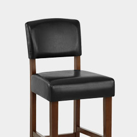 Sydney Walnut Bar Stool Black