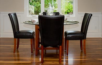 Real Leather Dining Kitchen Chairs
