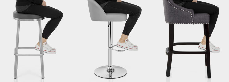 Photograph Showing Distance From Bar Stool Seat To Footrest