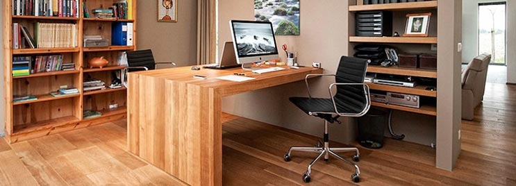 Black Eames Medium Back Office Chair in Home Office