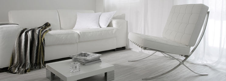 White Mercer Funky Chairs With White Sofa