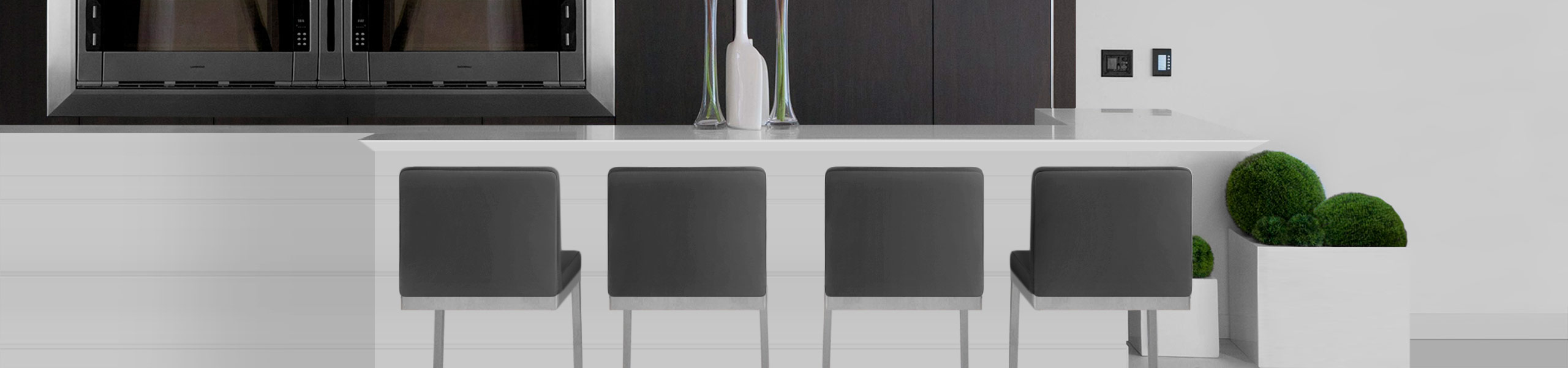 Ace Brushed Steel Stool Grey Video Banner