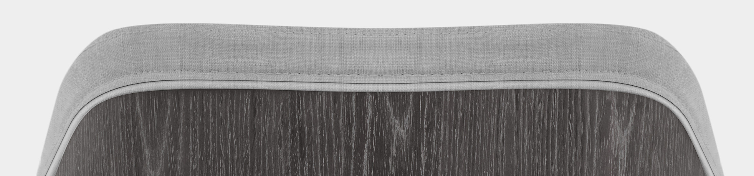 Adele Wooden Stool Grey Fabric Video Banner