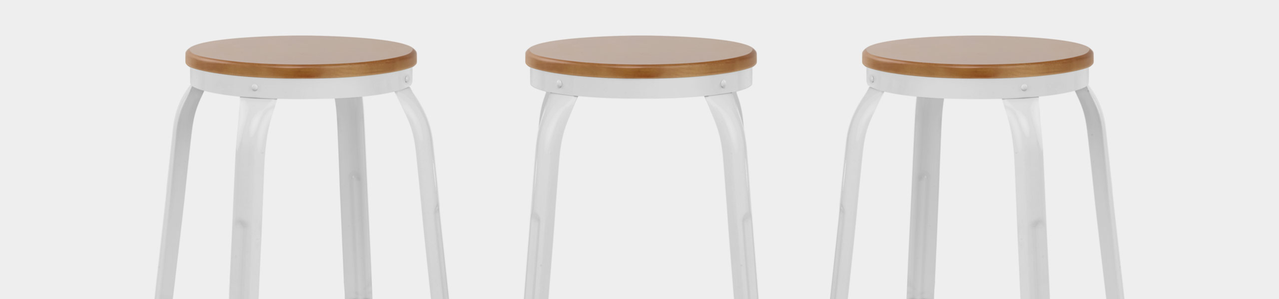 Amp Bar Stool White Video Banner