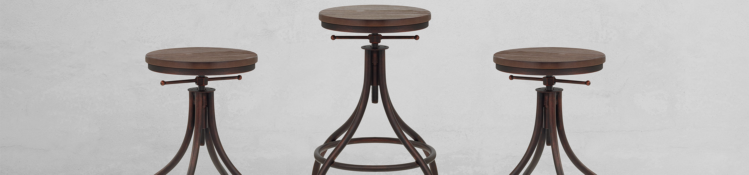 Arc Stool Antique Copper Video Banner