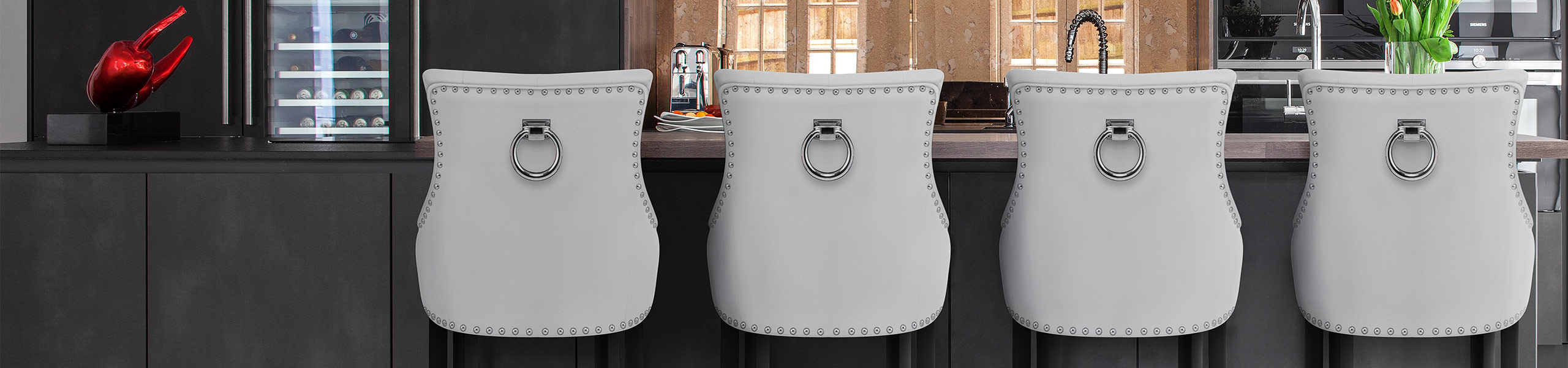 Ascot Bar Stool White Leather Video Banner
