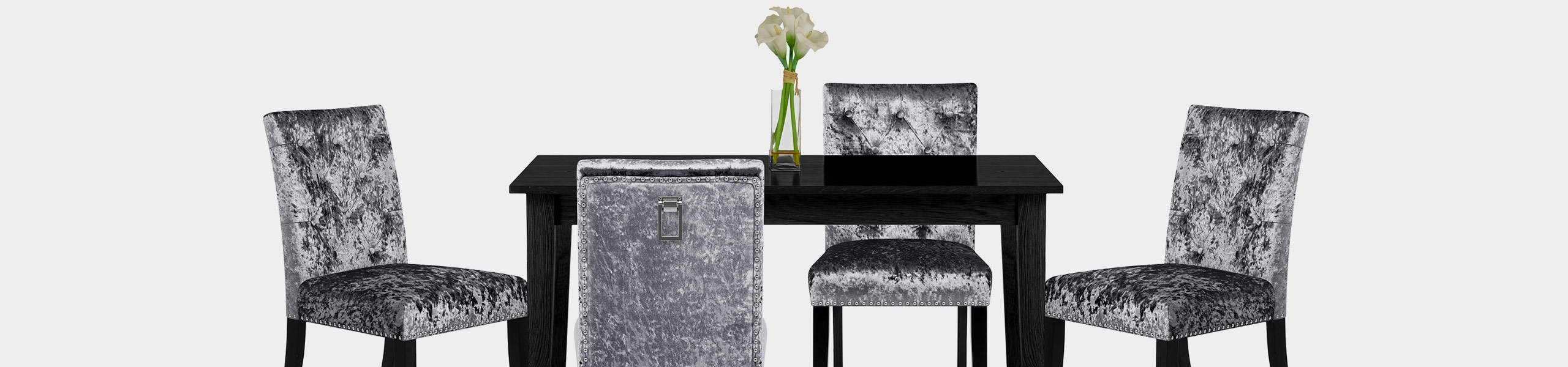 Barrington Dining Chair Grey Velvet Video Banner