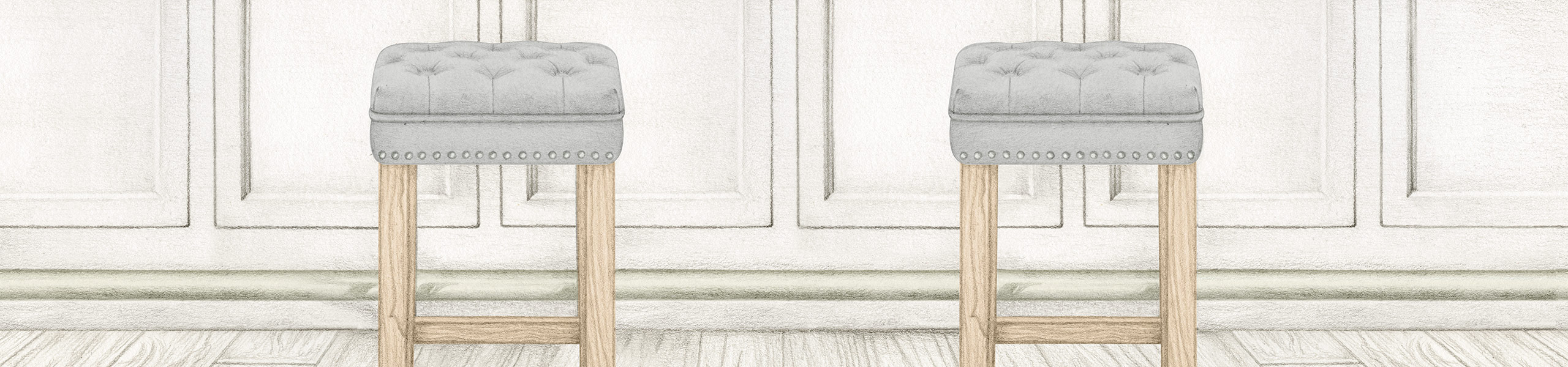 Belgravia Oak Stool Grey Velvet Video Banner