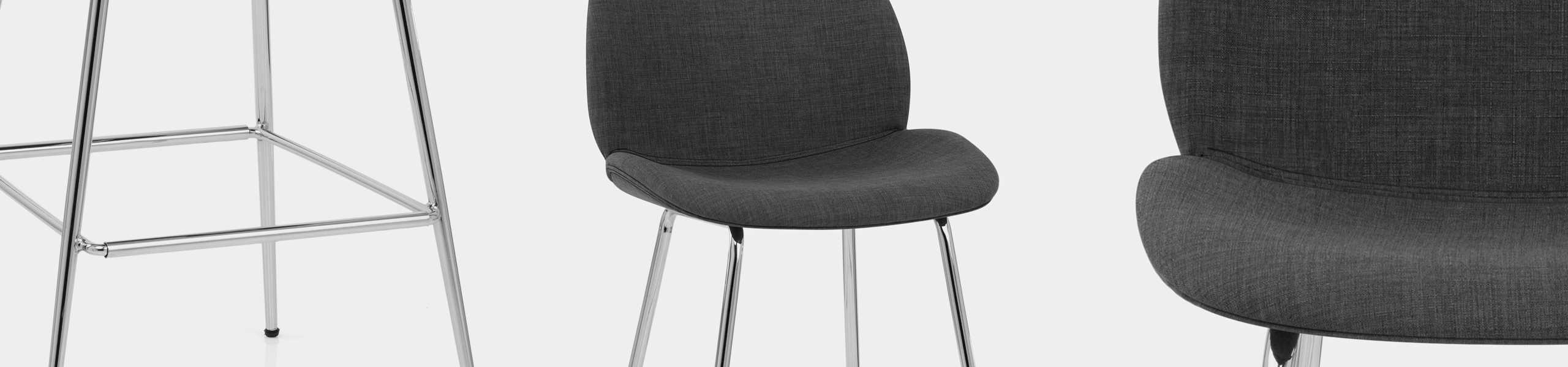 Bella Bar Stool Charcoal Fabric Video Banner