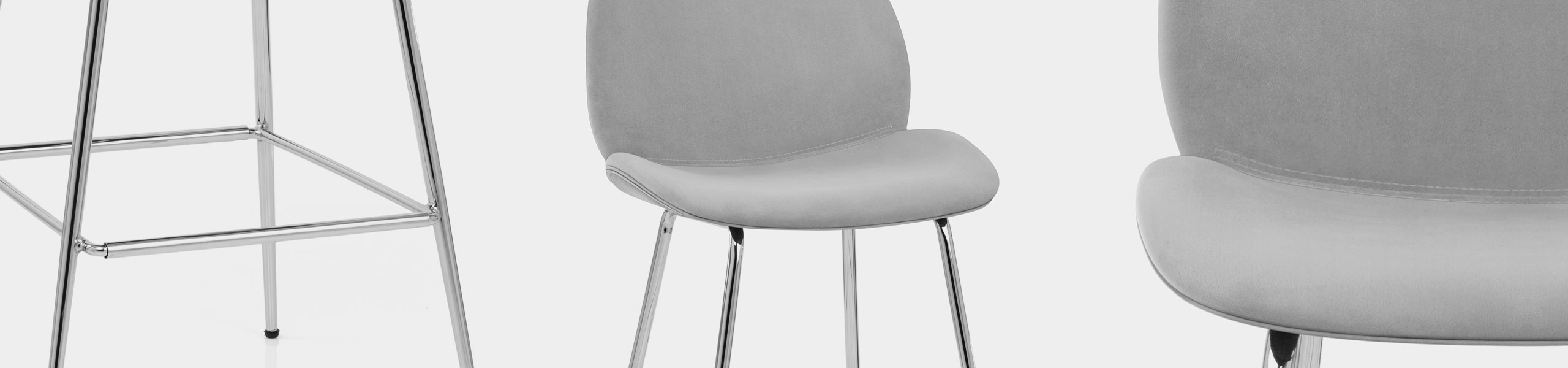 Bella Bar Stool Grey Velvet Video Banner
