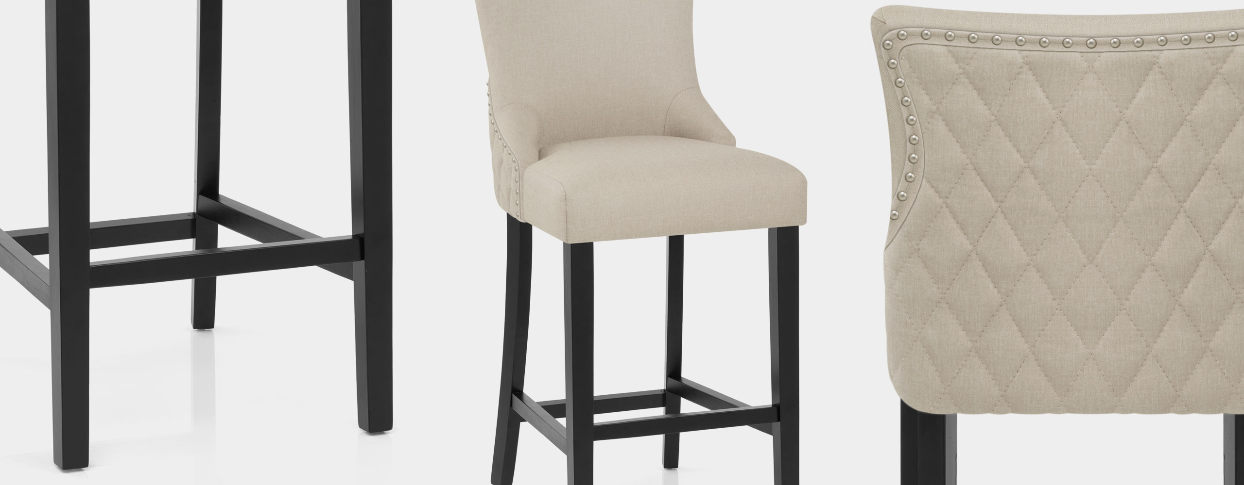 Bentley Bar Stool Cream Fabric Video Banner