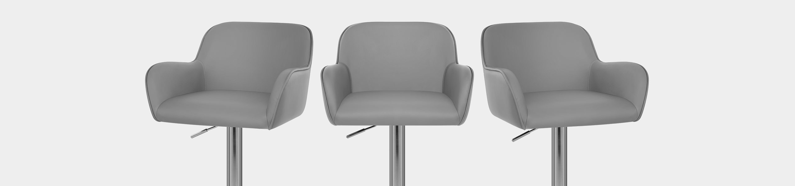 Berlin Brushed Bar Stool Grey Video Banner