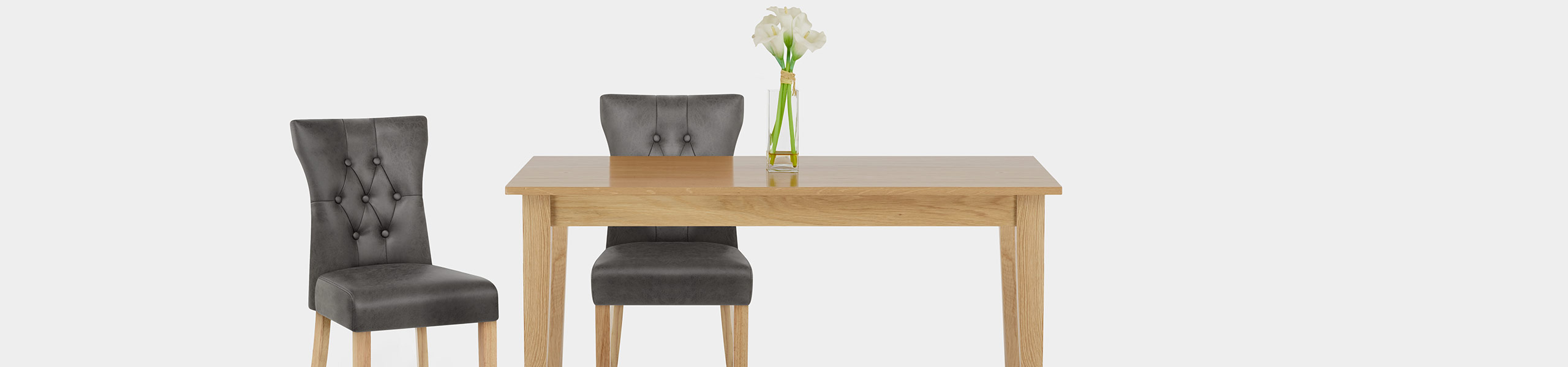 Bradbury Oak Dining Chair Grey Video Banner