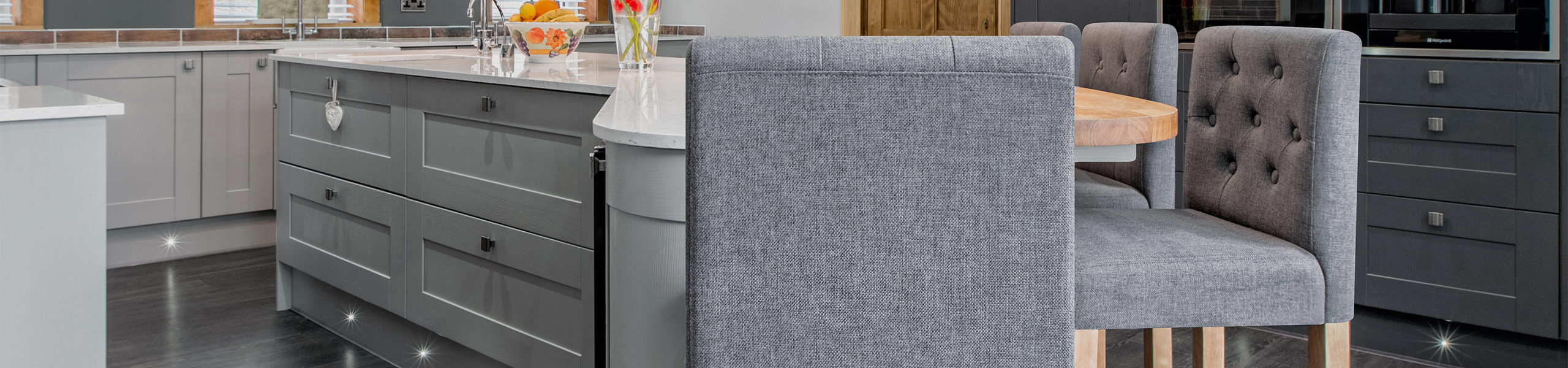 Brookes Oak Stool Charcoal Fabric Video Banner