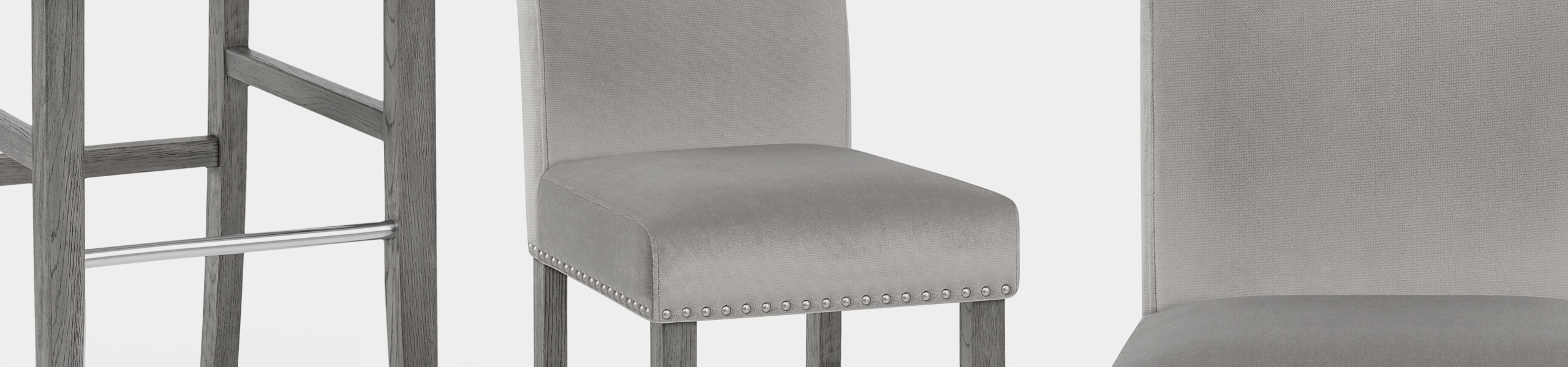 Brunswick Stool Grey Velvet Video Banner