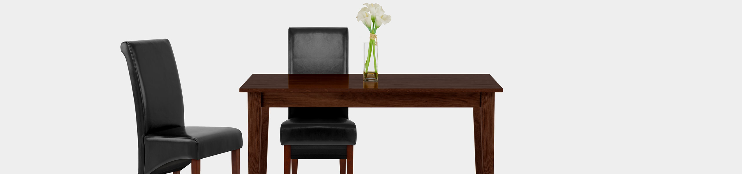 Carlo Walnut Chair Black Leather Video Banner