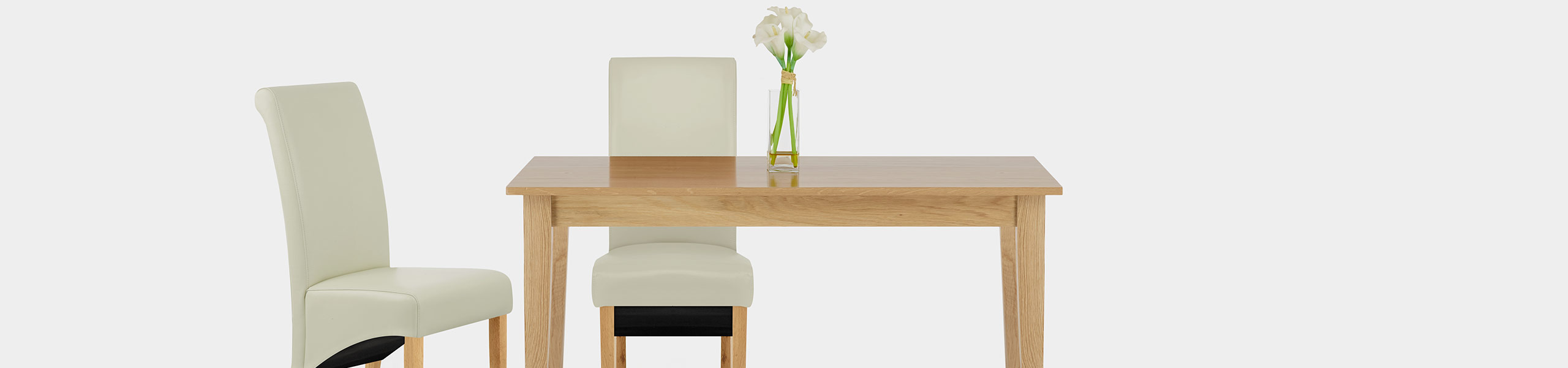 Carlo Oak Chair Cream Leather Video Banner
