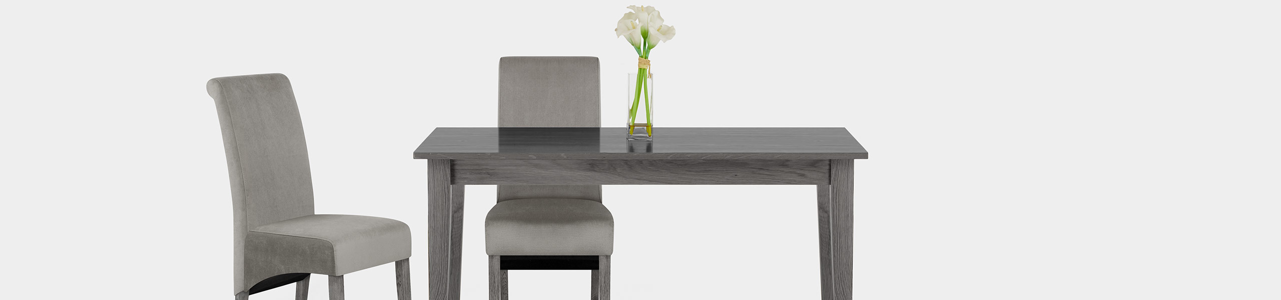 Carlo Grey Oak Chair Grey Velvet Video Banner