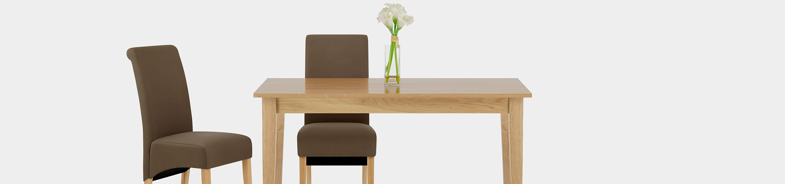 Carlo Oak Chair Brown Fabric Video Banner