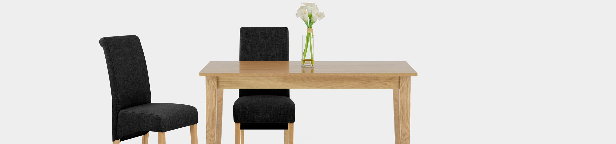 Carlo Oak Chair Charcoal Fabric Video Banner
