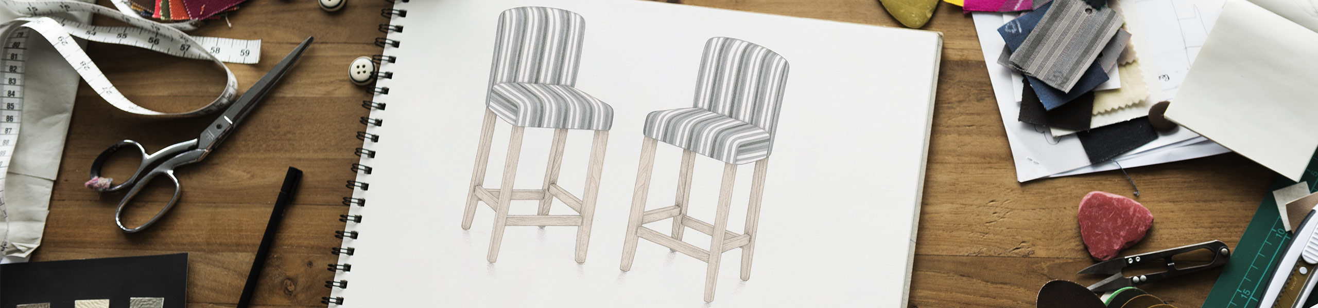 Carter Oak Bar Stool Cambridge Stripe Video Banner