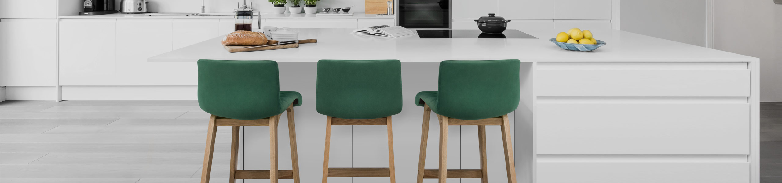 Colt Oak Stool Green Velvet Video Banner